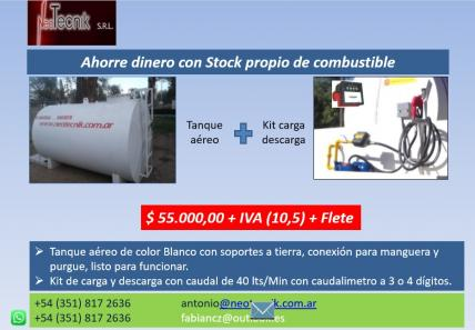 TANQUE DE COMBUSTIBLE 5000 LTS + KIT DE DESCARGA